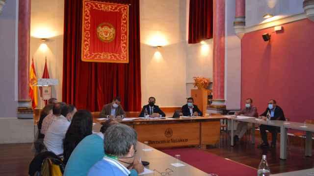 Momento de la reunión de la Diputación de Palencia con el sector turístico
