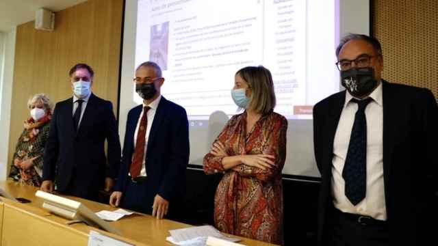 Ricardo Rivero, Carlos García Carbayo, Blanca Ares y Juan José García Meilán