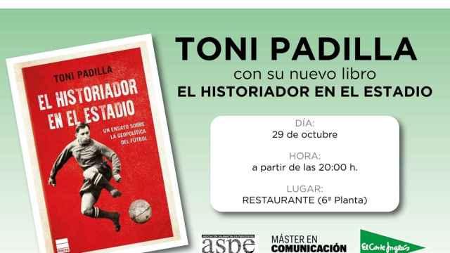 Toni Padilla presenta el libro 'El historiador en el estadio', este viernes en El Corte Inglés