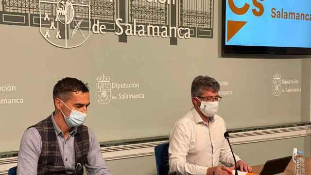 Los diputados de Ciudadanos Jesús de San Antonio y Manuel Hernández