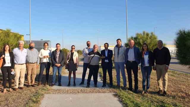 Visita de la corporación municipal a Illescas