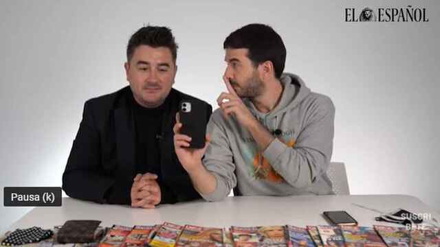 Jesús Carmona y Raúl Rodríguez durante la grabación del kiosco rosa, en vídeo.