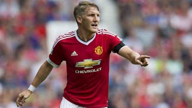 Bastian Schweinsteiger, en un partido del Manchester United