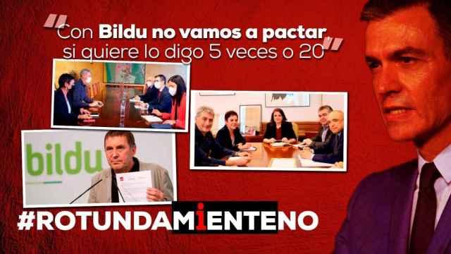 Imagen de la campaña del PP denunciando las mentiras de Pedro Sánchez.