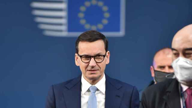 El primer ministro polaco, Mateusz Morawiecki, durante la cumbre de la semana pasada en Bruselas
