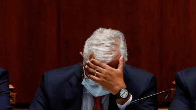 António Costa durante el debate de los Presupuestos en el Parlamento portugués.