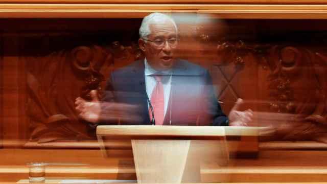El primer ministro portugués, António Costa, durante el debate de los Presupuestos.