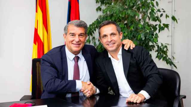 Laporta y Sergi Barjuan