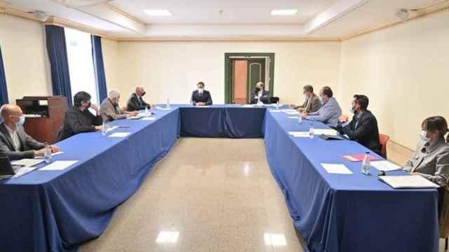 Un momento de la reunión de la Mesa del Diálogo Social
