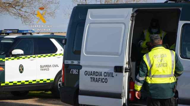 Control de la Guardia Civil en Zamora