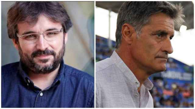 Jordi Évole y Míchel, en un collage