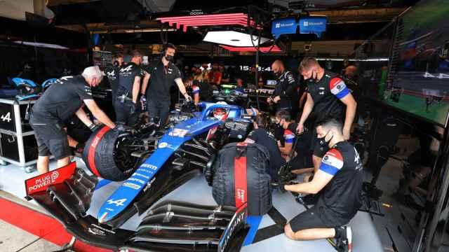 Box del equipo Alpine en el Gran Premio de los Estados Unidos