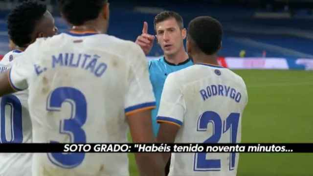 Soto Grado se encaró con los jugadores del Real Madrid tras el partido contra Osasuna