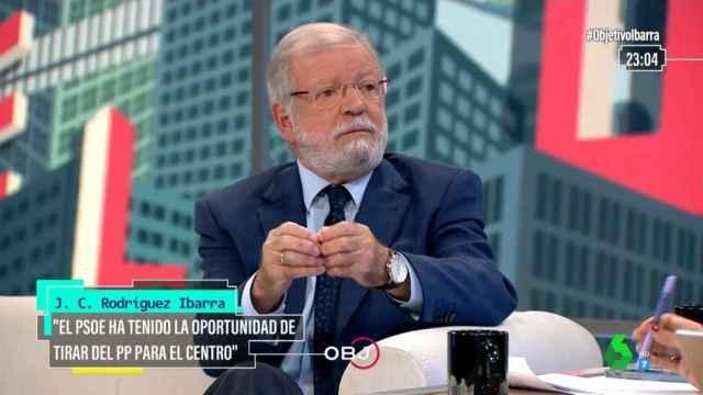 Juan Carlos Rodríguez Ibarra, expresidente de la Junta de Extremadura, en laSexta.